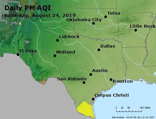 Peak Particles PM2.5 (24-hour) - https://files.airnowtech.org/airnow/2019/20190824/peak_pm25_tx_ok.jpg