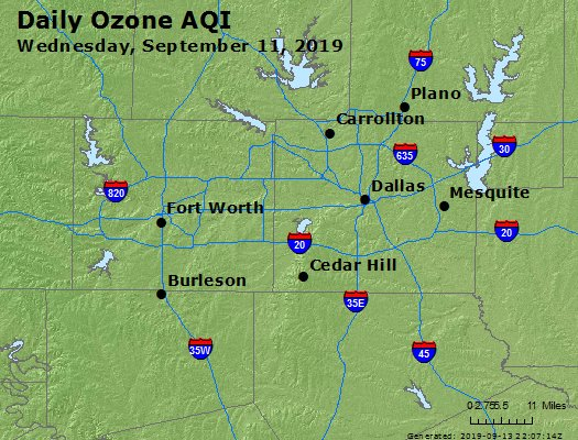 Peak Ozone (8-hour) - https://files.airnowtech.org/airnow/2019/20190911/peak_o3_dallas_tx.jpg