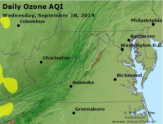 Peak Ozone (8-hour) - https://files.airnowtech.org/airnow/2019/20190918/peak_o3_va_wv_md_de_dc.jpg