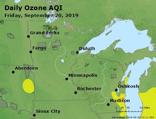 Peak Ozone (8-hour) - https://files.airnowtech.org/airnow/2019/20190920/peak_o3_mn_wi.jpg