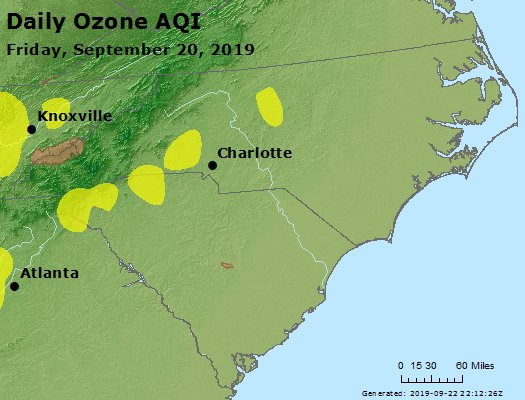 Peak Ozone (8-hour) - https://files.airnowtech.org/airnow/2019/20190920/peak_o3_nc_sc.jpg