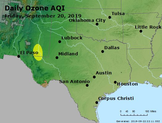 Peak Ozone (8-hour) - https://files.airnowtech.org/airnow/2019/20190920/peak_o3_tx_ok.jpg