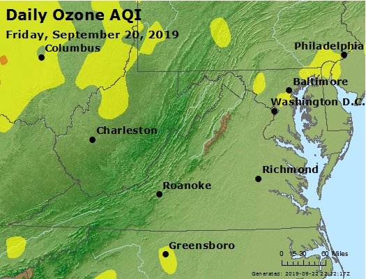 Peak Ozone (8-hour) - https://files.airnowtech.org/airnow/2019/20190920/peak_o3_va_wv_md_de_dc.jpg