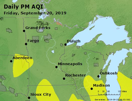 Peak Particles PM2.5 (24-hour) - https://files.airnowtech.org/airnow/2019/20190920/peak_pm25_mn_wi.jpg