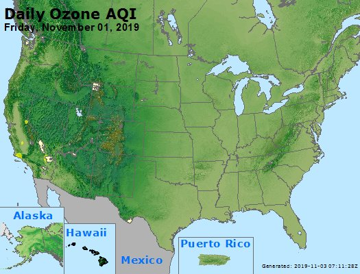 Peak Ozone (8-hour) - https://files.airnowtech.org/airnow/2019/20191101/peak_o3_usa.jpg