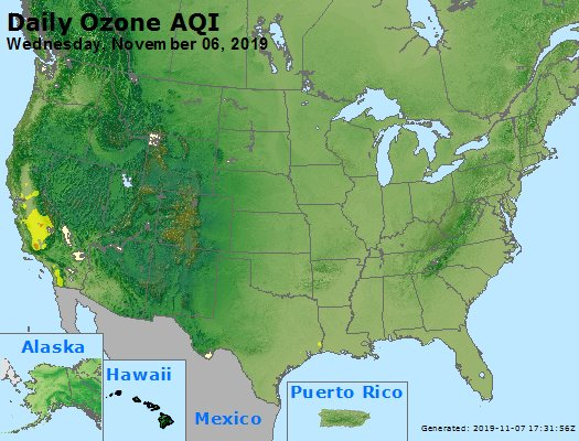 Peak Ozone (8-hour) - https://files.airnowtech.org/airnow/2019/20191106/peak_o3_usa.jpg