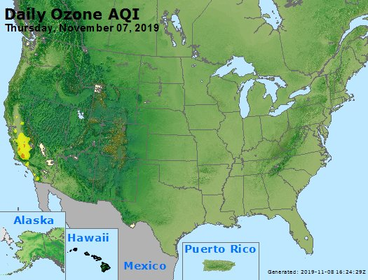 Peak Ozone (8-hour) - https://files.airnowtech.org/airnow/2019/20191107/peak_o3_usa.jpg