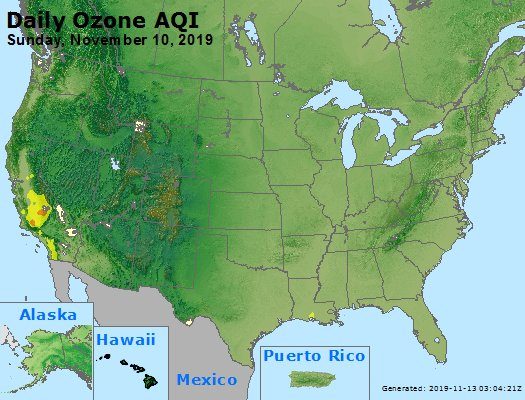 Peak Ozone (8-hour) - https://files.airnowtech.org/airnow/2019/20191110/peak_o3_usa.jpg