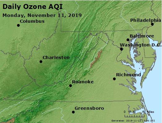 Peak Ozone (8-hour) - https://files.airnowtech.org/airnow/2019/20191111/peak_o3_va_wv_md_de_dc.jpg