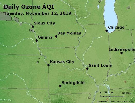 Peak Ozone (8-hour) - https://files.airnowtech.org/airnow/2019/20191112/peak_o3_ia_il_mo.jpg