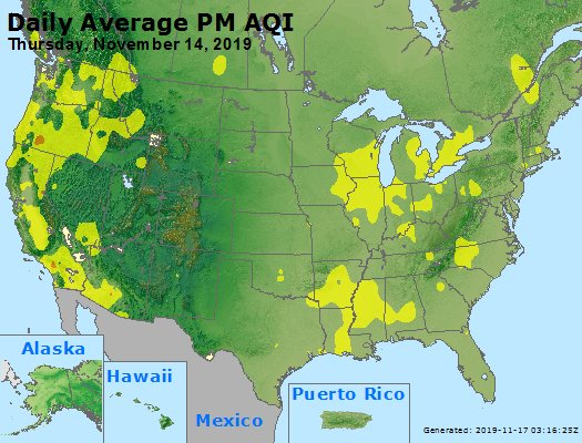 Peak Particles PM2.5 (24-hour) - https://files.airnowtech.org/airnow/2019/20191114/peak_pm25_usa.jpg