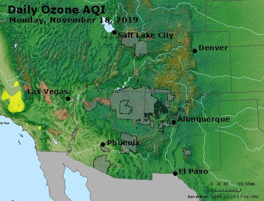 Peak Ozone (8-hour) - https://files.airnowtech.org/airnow/2019/20191118/peak_o3_co_ut_az_nm.jpg