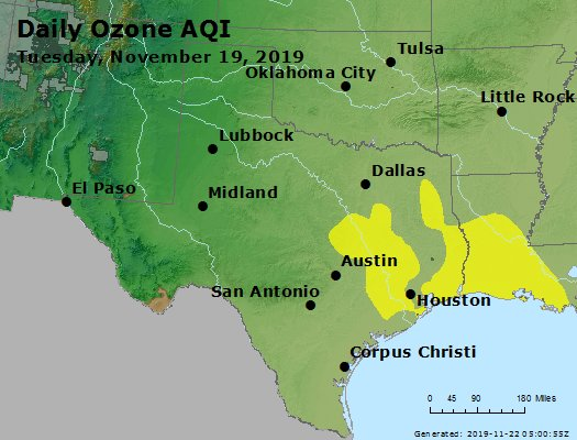 Peak Ozone (8-hour) - https://files.airnowtech.org/airnow/2019/20191119/peak_o3_tx_ok.jpg