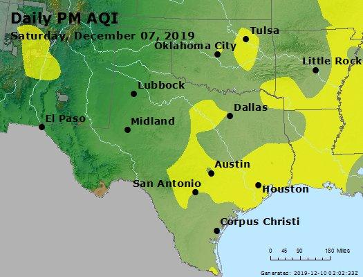 Peak Particles PM2.5 (24-hour) - https://files.airnowtech.org/airnow/2019/20191207/peak_pm25_tx_ok.jpg