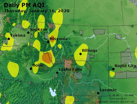 Peak Particles PM2.5 (24-hour) - https://files.airnowtech.org/airnow/2020/20200116/peak_pm25_mt_id_wy.jpg