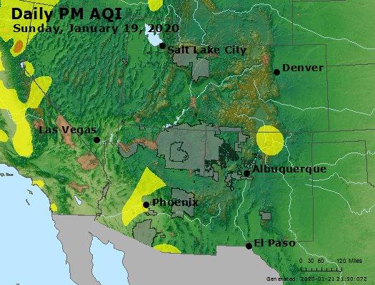 Peak Particles PM2.5 (24-hour) - https://files.airnowtech.org/airnow/2020/20200119/peak_pm25_co_ut_az_nm.jpg