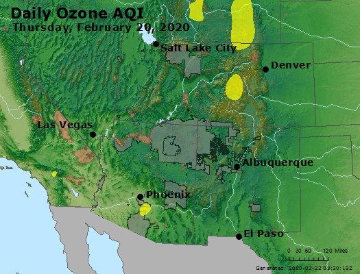 Peak Ozone (8-hour) - https://files.airnowtech.org/airnow/2020/20200220/peak_o3_co_ut_az_nm.jpg