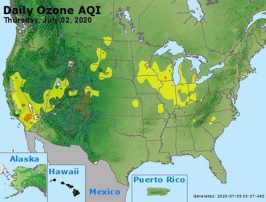 Peak Ozone (8-hour) - https://files.airnowtech.org/airnow/2020/20200702/peak_o3_usa.jpg