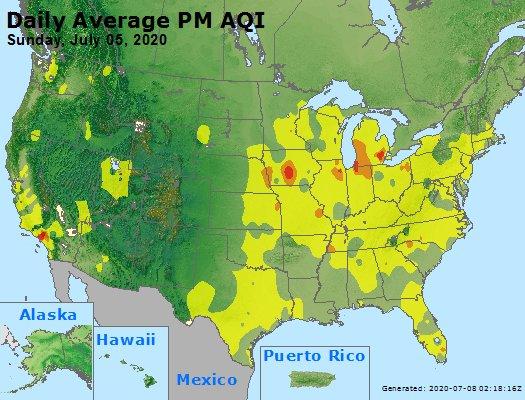 Peak Particles PM2.5 (24-hour) - https://files.airnowtech.org/airnow/2020/20200705/peak_pm25_usa.jpg