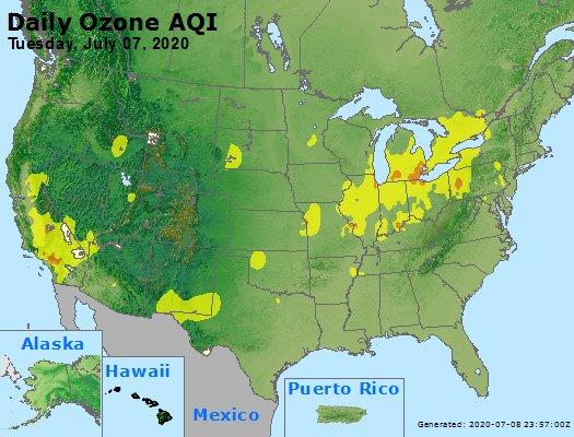 Peak Ozone (8-hour) - https://files.airnowtech.org/airnow/2020/20200707/peak_o3_usa.jpg