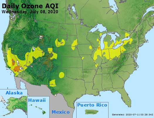 Peak Ozone (8-hour) - https://files.airnowtech.org/airnow/2020/20200708/peak_o3_usa.jpg