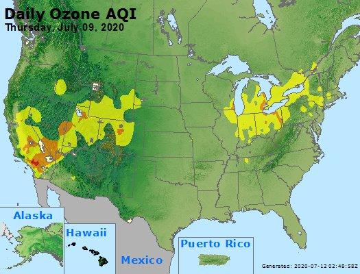 Peak Ozone (8-hour) - https://files.airnowtech.org/airnow/2020/20200709/peak_o3_usa.jpg