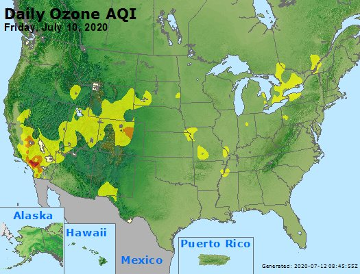 Peak Ozone (8-hour) - https://files.airnowtech.org/airnow/2020/20200710/peak_o3_usa.jpg