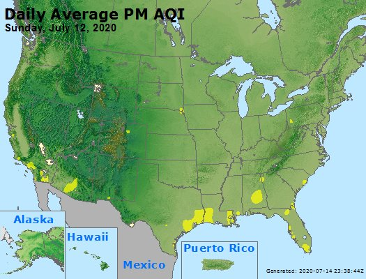 Peak Particles PM2.5 (24-hour) - https://files.airnowtech.org/airnow/2020/20200712/peak_pm25_usa.jpg