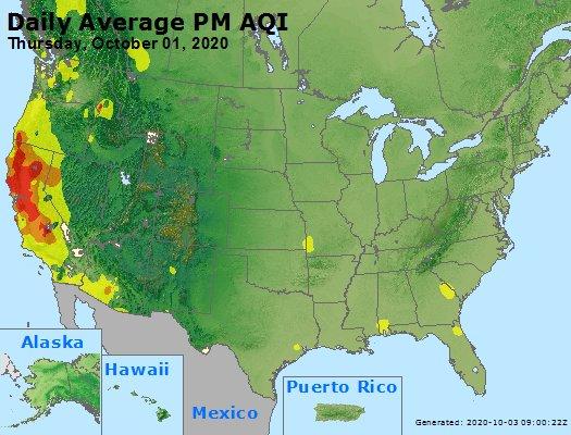 Peak Particles PM2.5 (24-hour) - https://files.airnowtech.org/airnow/2020/20201001/peak_pm25_usa.jpg