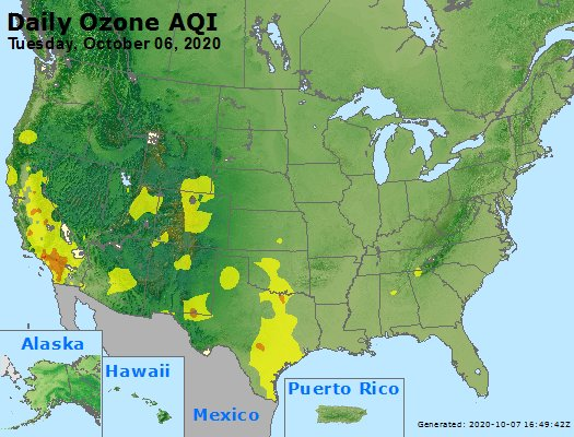 Peak Ozone (8-hour) - https://files.airnowtech.org/airnow/2020/20201006/peak_o3_usa.jpg