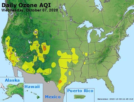 Peak Ozone (8-hour) - https://files.airnowtech.org/airnow/2020/20201007/peak_o3_usa.jpg