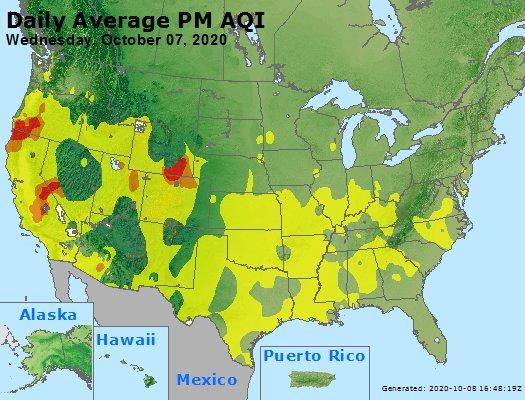 Peak Particles PM2.5 (24-hour) - https://files.airnowtech.org/airnow/2020/20201007/peak_pm25_usa.jpg