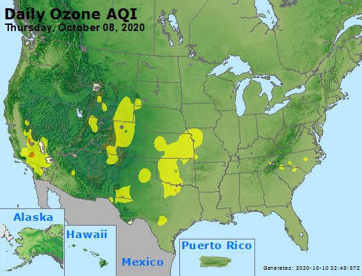 Peak Ozone (8-hour) - https://files.airnowtech.org/airnow/2020/20201008/peak_o3_usa.jpg
