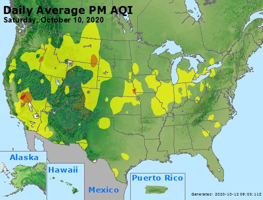 Peak Particles PM2.5 (24-hour) - https://files.airnowtech.org/airnow/2020/20201010/peak_pm25_usa.jpg