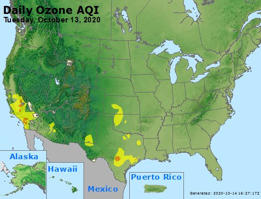 Peak Ozone (8-hour) - https://files.airnowtech.org/airnow/2020/20201013/peak_o3_usa.jpg