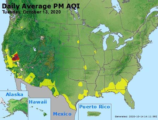 Peak Particles PM2.5 (24-hour) - https://files.airnowtech.org/airnow/2020/20201013/peak_pm25_usa.jpg