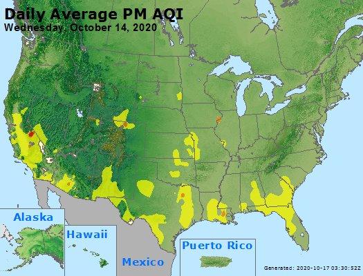 Peak Particles PM2.5 (24-hour) - https://files.airnowtech.org/airnow/2020/20201014/peak_pm25_usa.jpg
