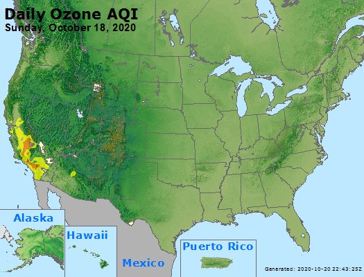 Peak Ozone (8-hour) - https://files.airnowtech.org/airnow/2020/20201018/peak_o3_usa.jpg