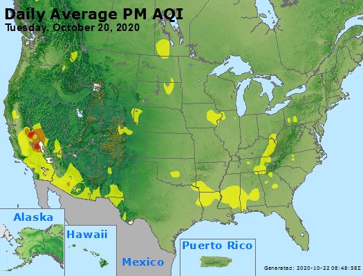 Peak Particles PM2.5 (24-hour) - https://files.airnowtech.org/airnow/2020/20201020/peak_pm25_usa.jpg
