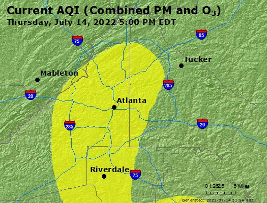 Atlanta Indiana Map.Airnow Atlanta Ga Air Quality
