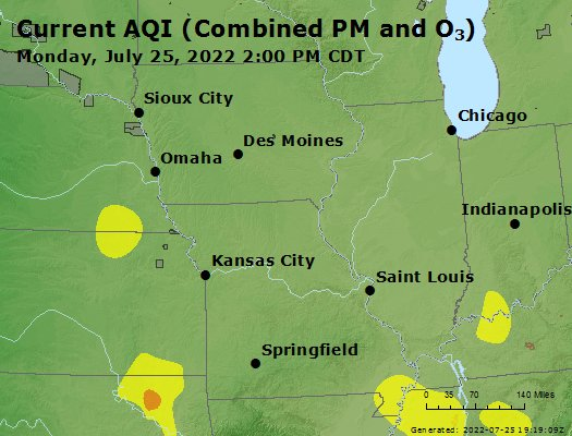 Current air quality index