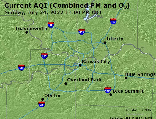 Blue Springs Mo Zip Code Map.Airnow Kansas City Mo Air Quality