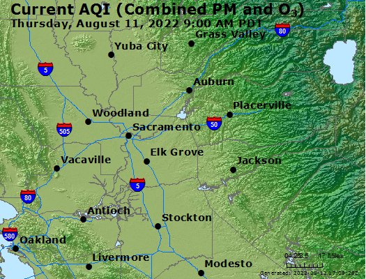 Northern California Air Quality Map