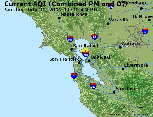 Current Air Quality SF Bay Area