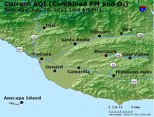 Airnow Thousand Oaks Ca Air Quality