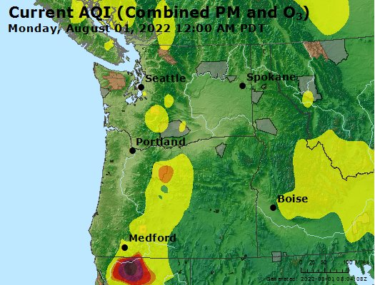 Airnow Eugene Springfield Or Air Quality