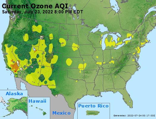 Current Ozone Map